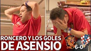 España 6-0 Croacia | El grito desgarrador de Roncero con los golazos de Asensio | Diario AS