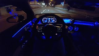 Mercedes A Class AMG A45 S  NIGHT DRIVE POV  AMBIENT LIGHTING by AutoTopNL