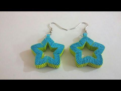 7. Paper Weaving Star Shaped Earrings Tutorial