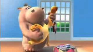 Hippo and Dog The Bagpiper