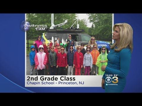 CBS 3 Mobile Weather Watcher Visits Chapin School In Princeton