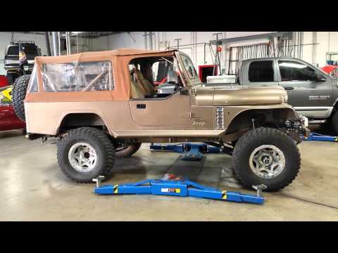 Jeep Scrambler first start up with the LS motor