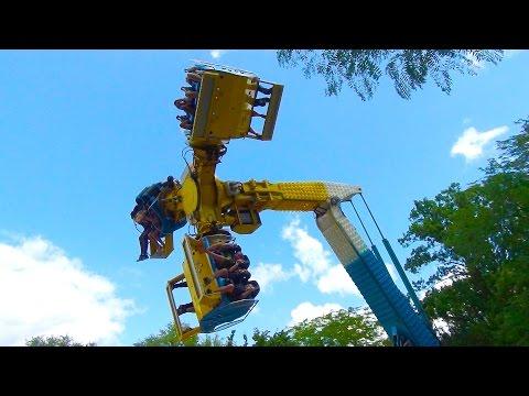 Wipeout Crazy Amusement Park Flat Ride POV Coney Island Cincinnati