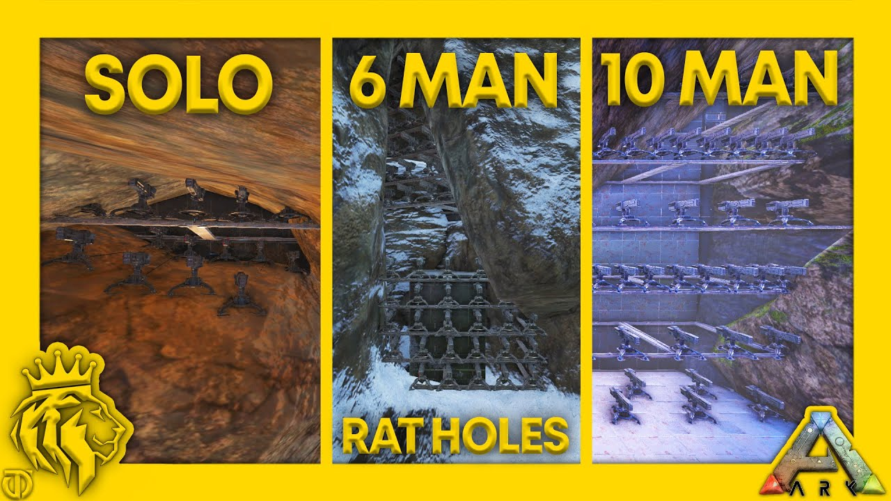 Download Top 3 PVP Rat Holes On The Center W/ FULL BASE DESIGNS   P. 2   ARK: Survival Evolved