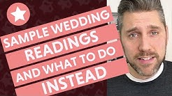 Sample Wedding Ceremony Readings (And What To Do Instead!)