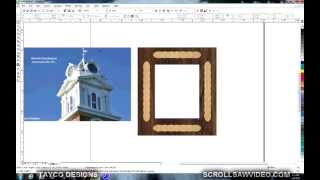 Woodworking  Scrollsaw Pattern Design With Coreldraw  Powerclip 2