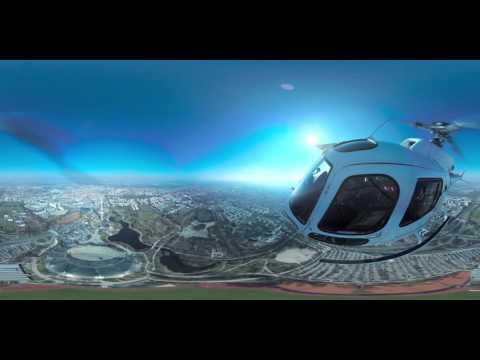 360° Video Hubschrauberflug München