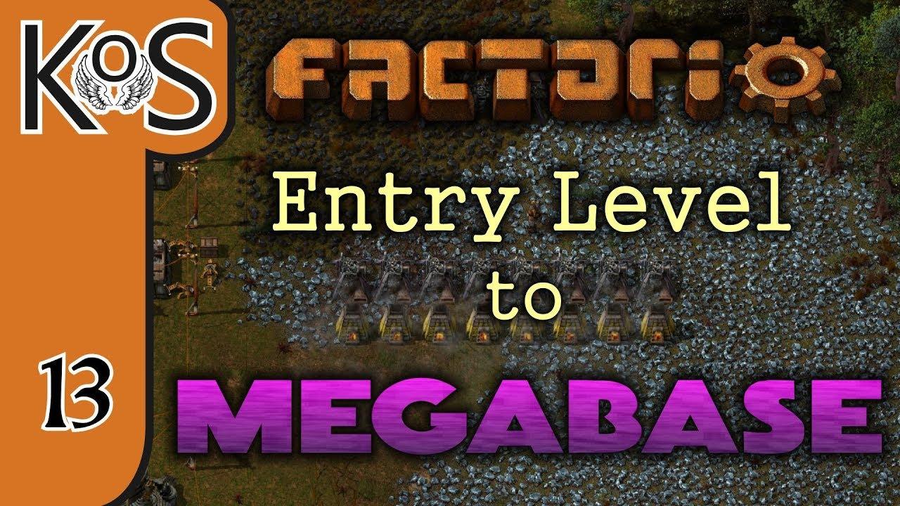 Factorio: Entry Level to Megabase Ep 13: BASE TRAIN STATION
