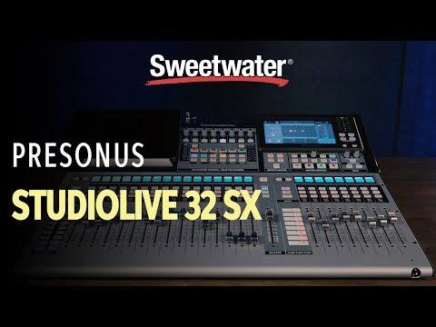 PreSonus StudioLive 32SX 32-channel Digital Mixer Overview