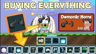 I Bought Everything In A Store on Growtopia (2,5M GEMS) | Growtopia