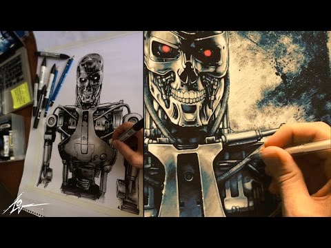 Terminator T-800 (PAINTING PROCESS) by Christopher Lovell
