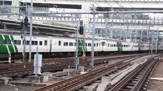 横浜を発車する国鉄型特急の末裔185系