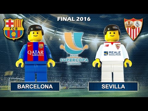 Spanish Super Cup Final 2016 : Barcelona vs Sevilla ( Supercopa de España ) Film in Lego Football