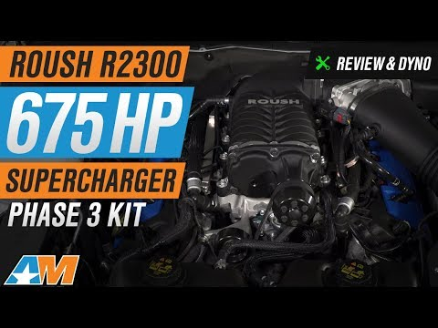 2011-2014 Mustang GT Roush R2300 675HP Supercharger - Phase 3 Kit Review & Dyno