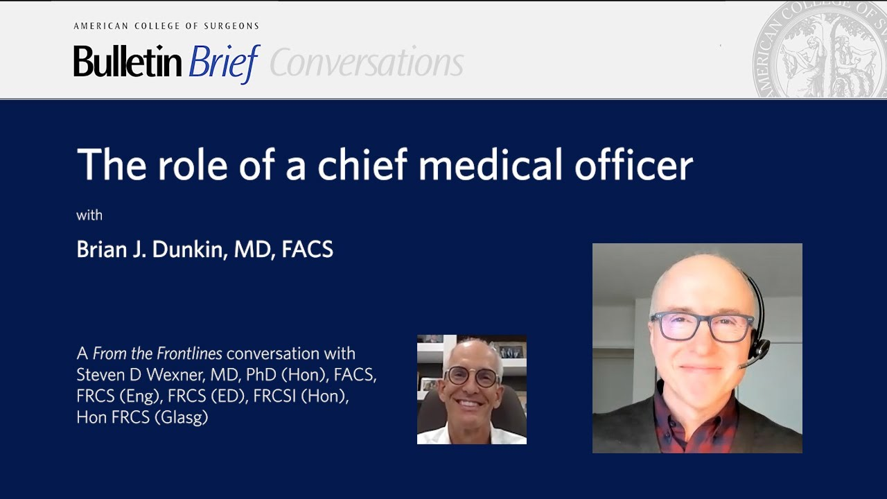 The role of a chief medical officer