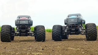 "RC ADVENTURES - CEN ""GST-E COLOSSUS"" 4x4 Monster Trucks - Electric 1/8th Scale Bashing"