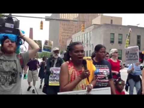 Singing on the 41-mile  Poor People