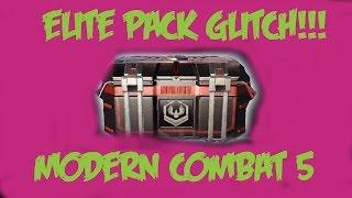 Modern Combat 5: Freaking Supply Pack Glitch!!!FIX YO GAME GL