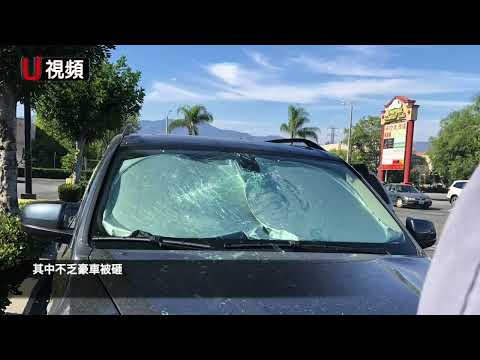 华妇自称游民 专砸洛杉矶罗斯密商场豪车 网友说她仇富(图/视频)