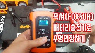 대륙의 실수 자동차 배터리 충전기 퍽셔 사용법