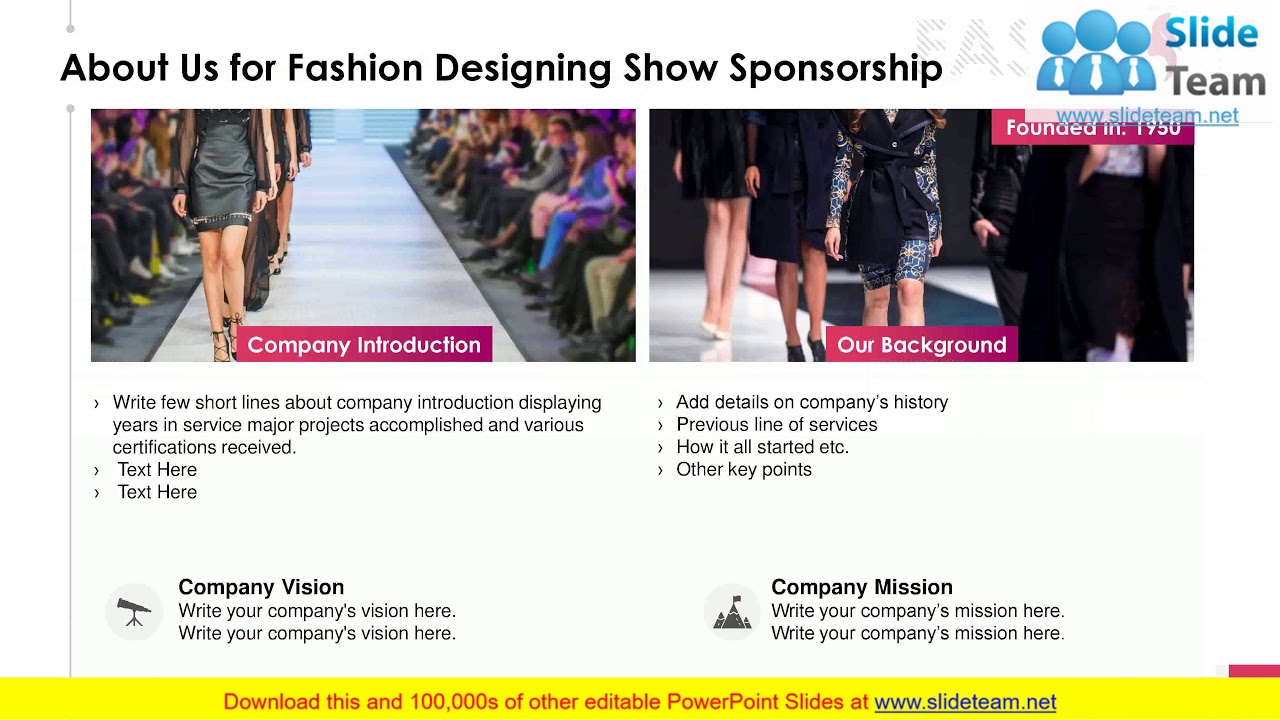 Fashion Designing Show Sponsorship Proposal PowerPoint Presentation Slides