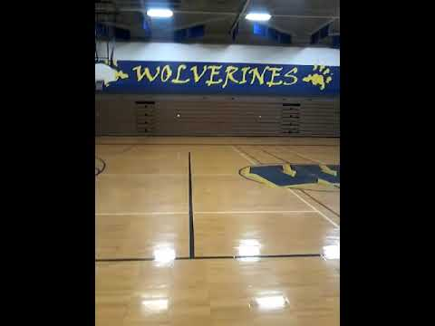 Warren Woods middle school gym wolverines