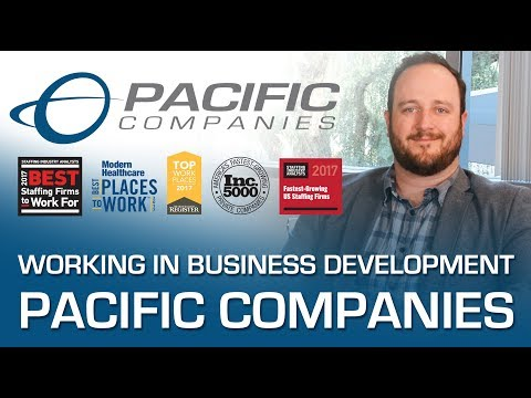 Working in Business Development at Pacific Companies