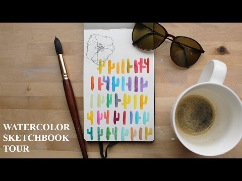 Sketchbook Tour! Watercolor Paintings | Paige Poppe - Artist