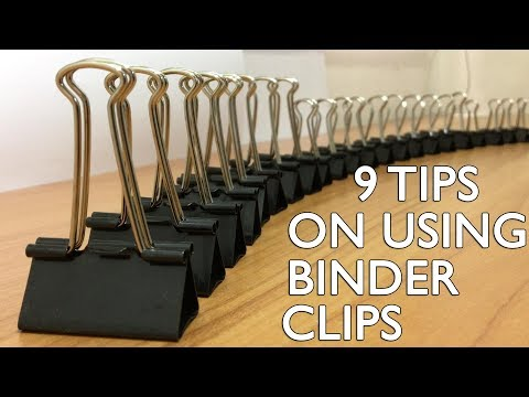 9 Tips On Using Binder Clips