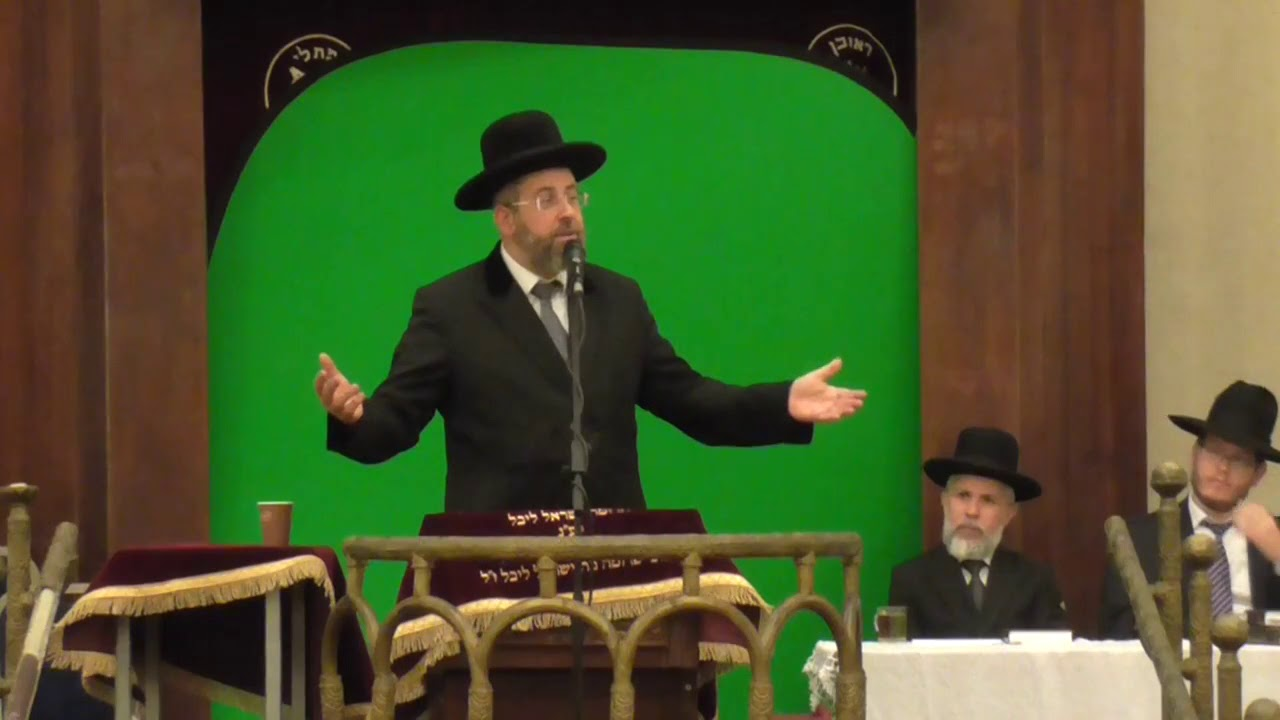 הרב הראשי לישראל הגאון רבי דוד לאו בשיחת התעוררות לימים הנוראים בבית הכנסת הגדול בתל אביב