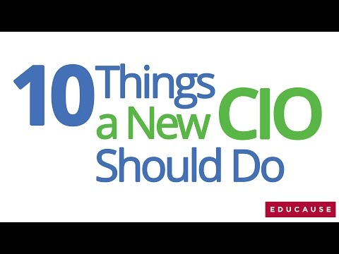 The CIO Minute: 10 Things New CIOs Should Do