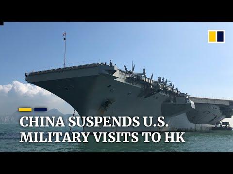 China suspends US military visits to Hong Kong after Donald Trump signs democracy act