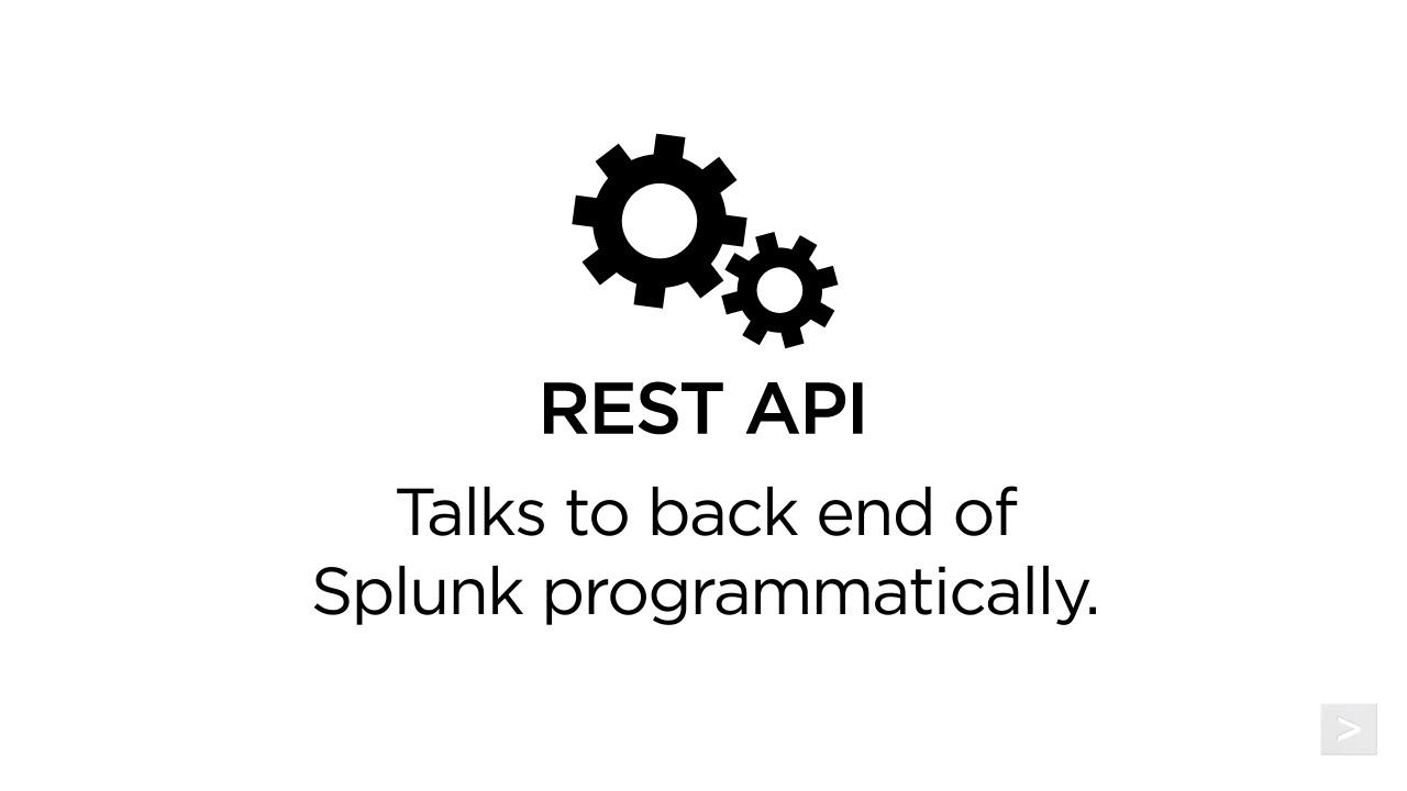Using the Splunk REST API