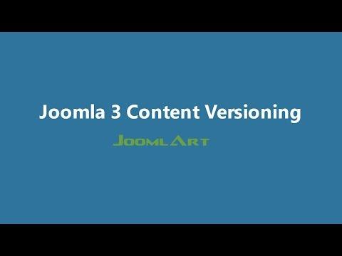 Joomla 3 Video Tutorials - Content Versioning