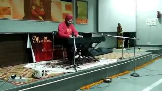 piano blindfold drums cover live at gargi college