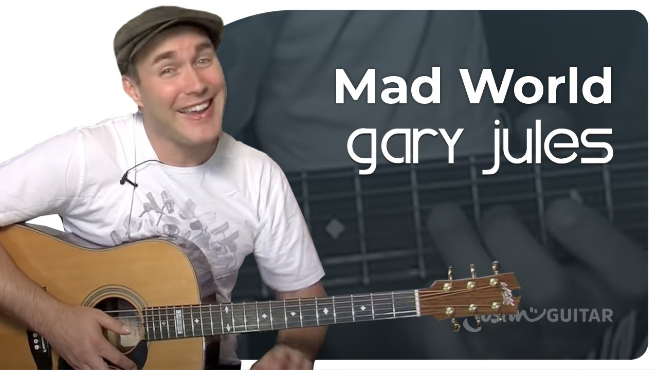 Mad World Gary Jules Easy Beginner Song Guitar Lesson Bs 302 How