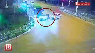 Нарушитель наехал на инспектора и протащил его по дороге. No comment