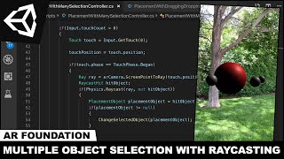 AR Foundation Unity3d ile Raycasting ile Nesne Seçimi AR