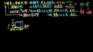 3-2觀念02牛頓第二運動定律(F=ma)