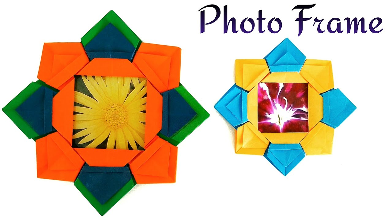 Useful Modular Origami Tutorial Star Flower Photo Picture Frame
