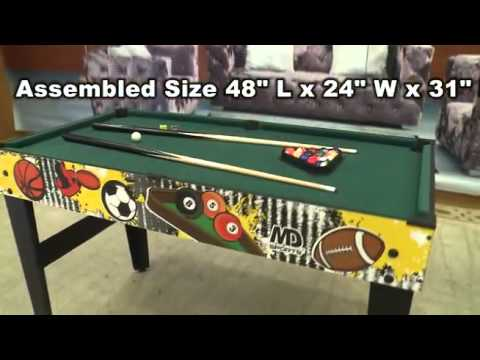MD Sports 48inch 5in1 Combination Table   YouTube