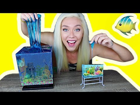 REAL SLIME AQURIUM HOW TO MAKE A SLIME FISH TANK! So Satisfying!