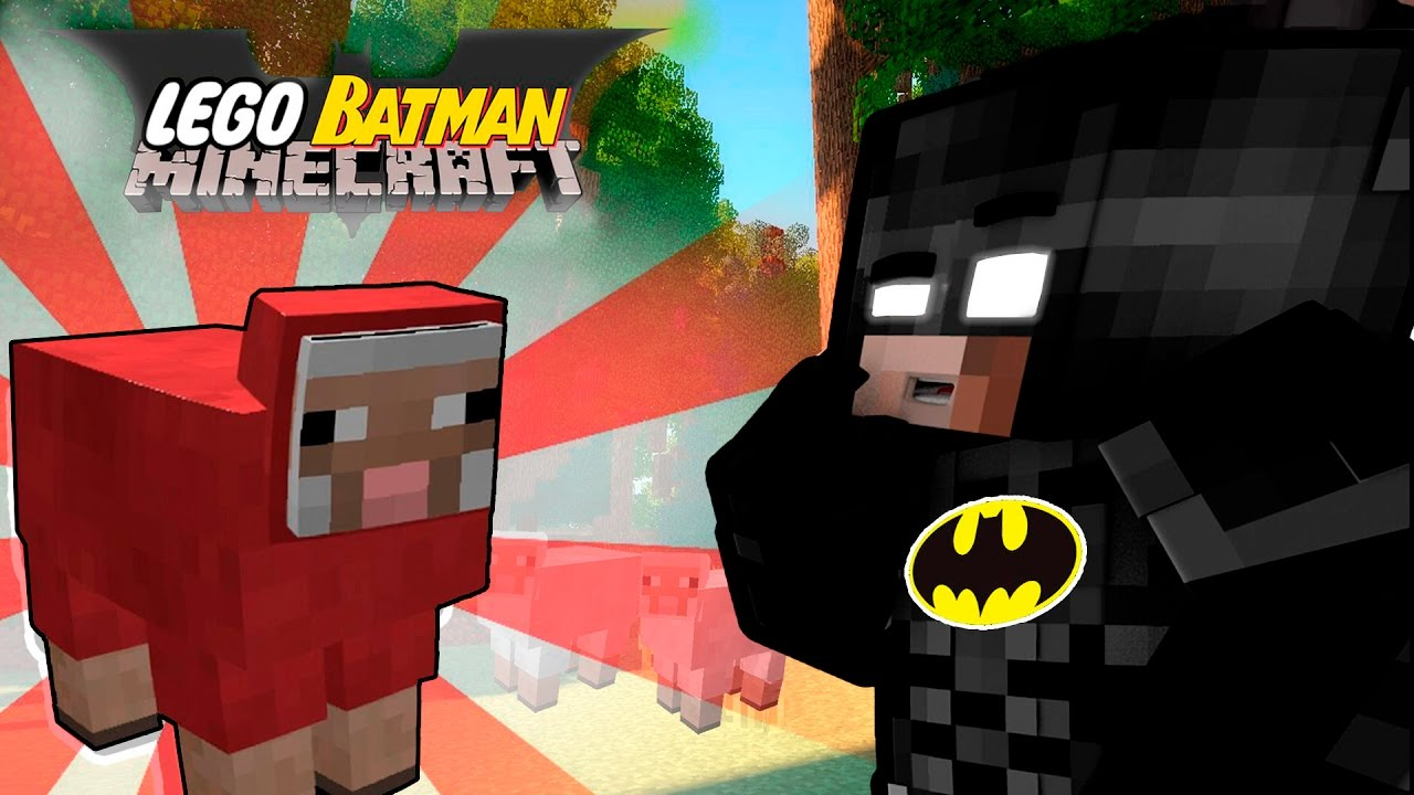 Lego Batman vs Minecraft #2: Steve The Red Sheep | The Lego Batman Movie Roleplay