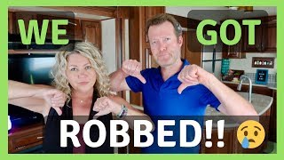 RV Living Full Time - WE GOT ROBBED! Does Your RV Insurance Cover This? (2018)