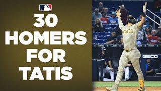 30 FOR TATIS! Fernando Tatis Jr. hits his 30th homer of the season!