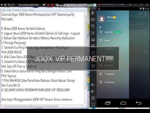 Tutorial JOOX VIP Selamanya WORK 100%