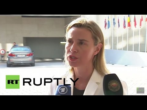LIVE: Mogherini holds press conference after EU Foreign Affairs Council meeting