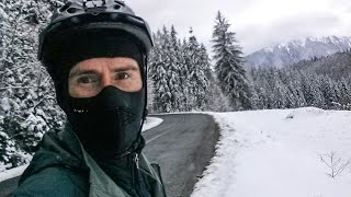 Are You Crazy Boy? Biking Across Romania in the Snow! (Wearing Only Shorts)