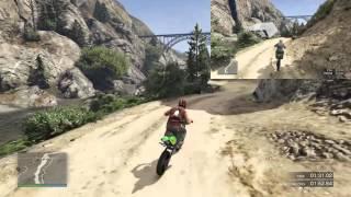 PS4 GTA5 タイムアタック アップ・ザ・クリーク[Up the Creek] 走行比較2