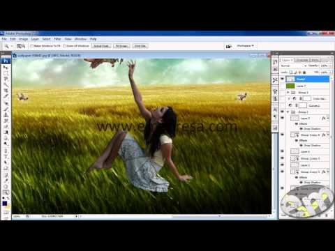 Designing Dream Scene in Photoshop Urdu Tutorial by Emadresa
